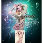 اکشن فتوشاپ شکستن شیشه Fragmentation Shattered Glass Photoshop Action