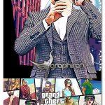 اکشن فتوشاپ افکت بازی GTA برای عکس GrandTheft Game Theme Effect