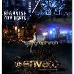 پروژه افتر افکت نورهای شهر از نمای بالا Highrise City Lights Logo Intro