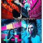 اکشن فتوشاپ افکت رنگی نورهای نئون Neon Lights Photoshop Action