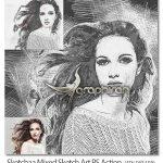 اکشن فتوشاپ نقاشی خطی و هنری Sketchaa Mixed Sketch Art PS Action