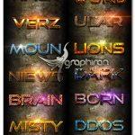 ۱۲ استایل زیبا و خاص فتوشاپ Photoshop text Effect Vol 2
