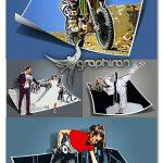 ۴۸ اکشن فتوشاپ افکت بیرون زدگی عکس Comic Pop-ups Photoshop Actions