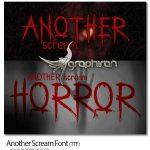 فونت انگلیسی ترسناک و وحشت آور Another Scream Font