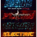 اکشن فتوشاپ ساخت افکت متن برق الکتریکی Energy Text Photoshop Action