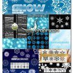 مجموعه ۱۲ براش فتوشاپ دانه های برف Snowflakes Brushes for Photoshop