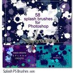دانلود براش های فتوشاپ چکیدن رنگ Splash Photoshop Brushes