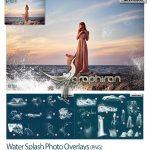 دانلود تصاویر پوششی پاشیدن آب Water Splash Photo Overlays