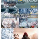 پک ترانزیشن های موج دریا برای افتر افکت Water Wave Transitions Pack 2