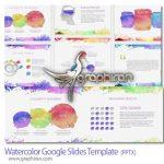 قالب آماده پاورپوینت سبک آبرنگ Watercolor Google Slides Template