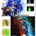 اکشن فتوشاپ نقاشی آبرنگ پخش شده Watercolor Painting Photoshop Action