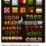 مجموعه ۱۰ استایل متن کریسمس Meppy Christmas styles text effect