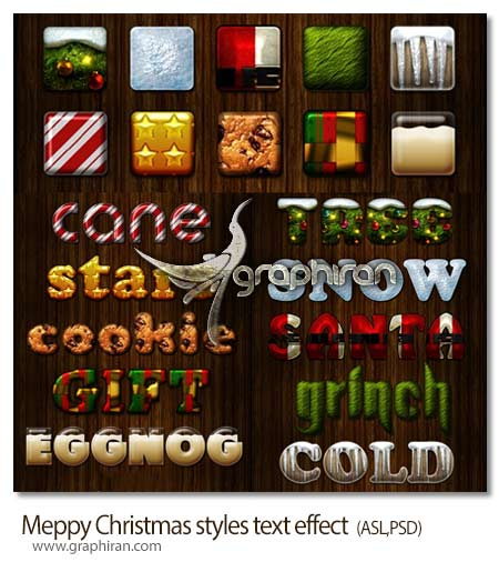 مجموعه 10 استایل متن کریسمس