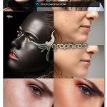 اکشن فتوشاپ روتوش پوست پرتقالی Easy Skin Retouch Photoshop Actions