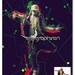 اکشن فتوشاپ ساخت افکت های انتزاعی گرافیکی Fuse Photoshop Action