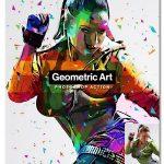 اکشن فتوشاپ ساخت اثر هنری هندسی Geometric Art Photoshop Action