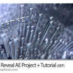 پروژه افتر افکت نمایش لوگو با پین آرت سه بعدی Pinart Reveal