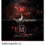 پروژه آماده افتر افکت اینترو خرد شدن لوگو Shatter Logo Intro