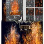 دانلود پک تصاویر دوربری آتش و دود Fire & Smoke PNG Stock Bundle