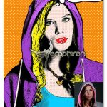 اکشن نقاشی پاپ آرت لیکتنستاین Pop Art Photoshop Action Lichtenstein Effect