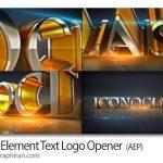 پروژه افتر افکت اینترو لوگوی درخشان ۳ بعدی Shiny Element Text Logo Opener