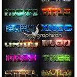 ۱۲ استایل فتوشاپ متنوع و حرفه ای Photoshop Text Effect Vol 10