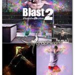دانلود اکشن فتوشاپ انفجار نور Blast Photoshop Action 2