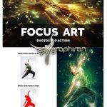 اکشن فتوشاپ هنر فوکوس با نورها Focus Art Photoshop Action