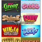 دانلود 20 استایل فتوشاپ بازی های کامپیوتری Game Logo Text Effect Styles