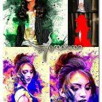 اکشن فتوشاپ افکت های خلاقانه با جوهر Ink Manipulation Photoshop Action 3