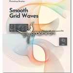 براش فتوشاپ امواج شبکه های مواج Flowing Network Waves Photoshop Brushes
