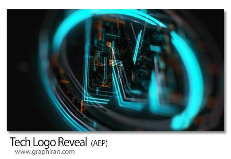 پروژه افتر افکت نمایش لوگو تکنولوژی
