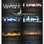 دانلود مجموعه ۱۲ استایل زیبا و حرفه ای فتوشاپ Text Effects Vol. 36