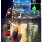 اکشن فتوشاپ ایجاد افکت ذرات نور درخشان Glitter Photoshop Action