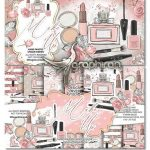 دانلود پک تصاویر دوربری شده لوازم آرایشی Make Up Design & Digital Paper Pack