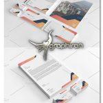 طرح لایه باز ست اداری مدرن و مینیمال Minimal Corporate Identity V10