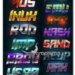 دانلود 20 استایل متن مدرن و شیک فتوشاپ Modern Text Styles V6