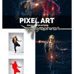 اکشن فتوشاپ افکت گرافیکی پیکسلی Pixel Art Photoshop Action