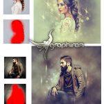 اکشن فتوشاپ افکت های نوری روی پرتره Portrait Art Photoshop Action