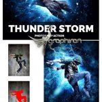 اکشن فتوشاپ طوفان و رعد و برق واقعی Thunder Storm Photoshop Action