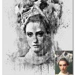 اکشن فتوشاپ افکت آبسترکت جوهری Abstract Imprassion Ink Photoshop Action