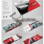 طرح بروشور نمایشگاه اتومبیل و معرفی ماشین قالب ایندیزاین Car Brochure