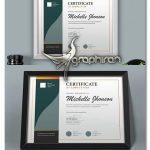 دانلود طرح لایه باز گواهی نامه و لوح تقدیر Certificate Diploma Template
