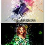 اکشن فتوشاپ پخش شدن رنگ پشت سوژه Christmo Art Photoshop Action