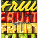 استایل های فتوشاپ فوق حرفه ای میوه ای Fruit Text Effects х7 PSD