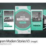 دانلود پروژه پریمیر استوری مدرن اینستاگرام Instagram Modern Stories V3