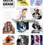 دانلود ۱۰ قالب و تمپلیت پست اینستاگرام Instagram Post Template-Blogger