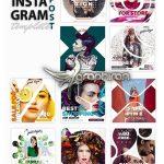 دانلود ۱۰ قالب آماده پست فروشگاه اینستاگرام Instagram Post Templates Store