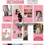 دانلود 20 قالب آماده استوری اینستاگرام لایه باز Instagram Stories PSD Pack