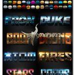 دانلود 50 استایل های درخشنده فتوشاپ Light Text Effects Bundle I